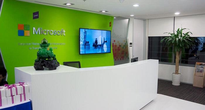 Top 10 văn phòng đẹp nhất việt nam - Văn phòng Microsoft Việt Nam
