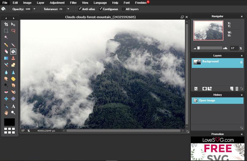 Pixlr - phần mềm chỉnh sửa ảnh