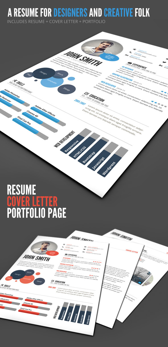 Infographic resume template design
