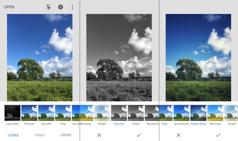 Phần mềm chỉnh sửa ảnh Snapseed