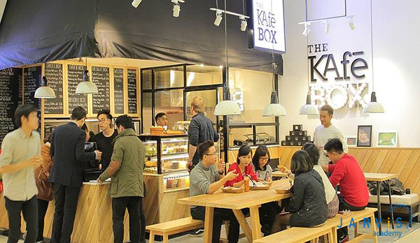 thiết kế không gian lý tưởng cho quán cafe