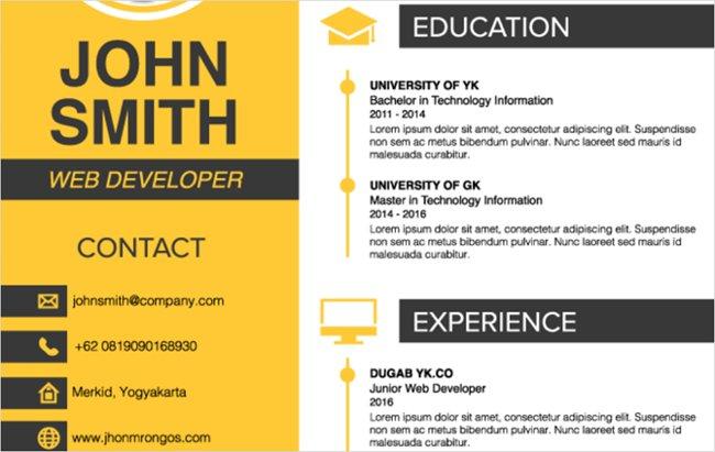 Mẫu thiết kế CV độc đáo
