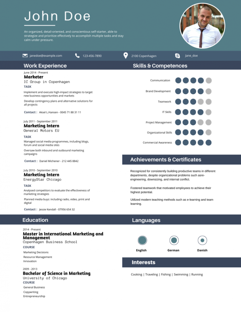30 most impressive resume templates - DesignBold