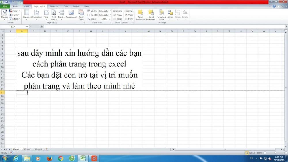 Cách Chia Trang Trong Excel 2007