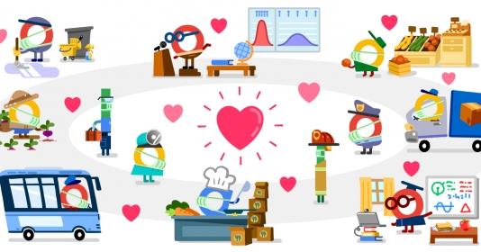 Google Doodle: Cảm ơn những người anh hùng chống Covid-19 ở tất cả ...