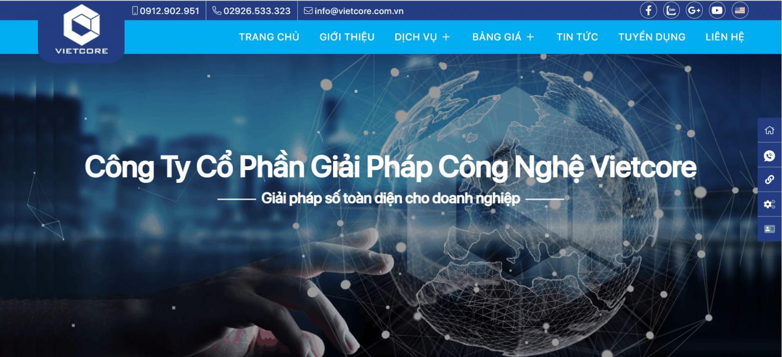 Công ty Thiết kế Web Tại Cần Thơ - Cổ Phần Giải Pháp Công Nghệ Vietcore