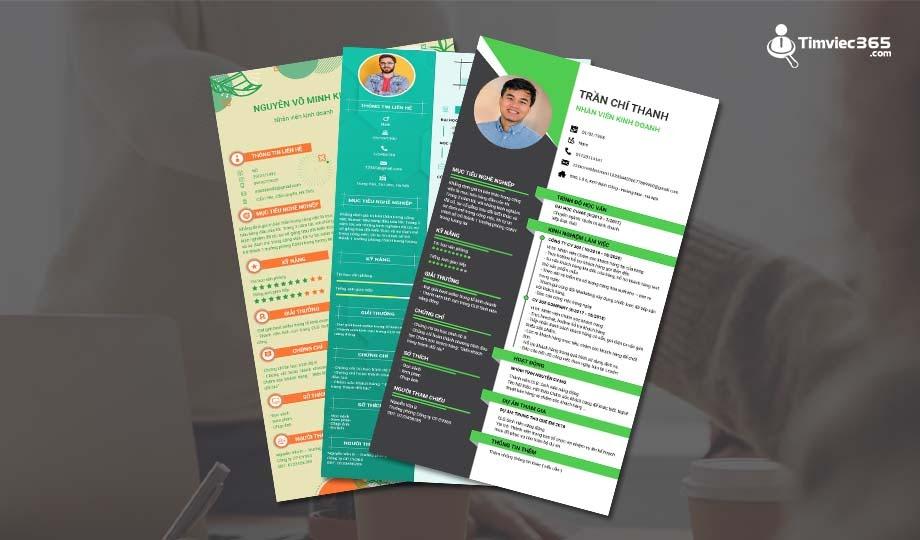 Mẫu CV kinh doanh ấn tượng tại timviec365.com