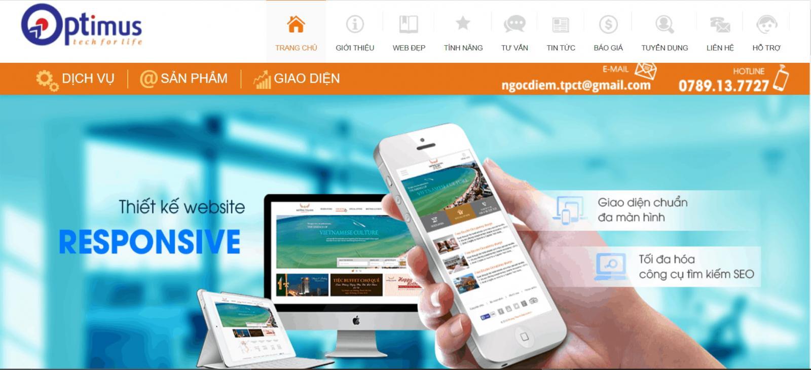 Công ty thiết kế Web tạiCần Thơ - Công ty Optimus