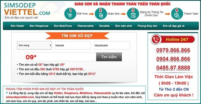 Website mua,bán Sim Số Đẹp tại TP. Hồ Chí Minh