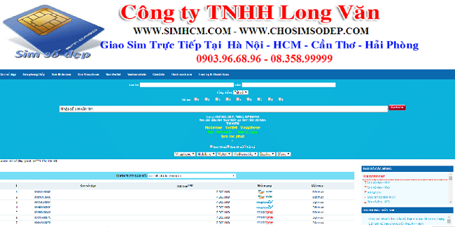 Website mua, bán sim số đẹp TP.HCM - SIMHCM.COM