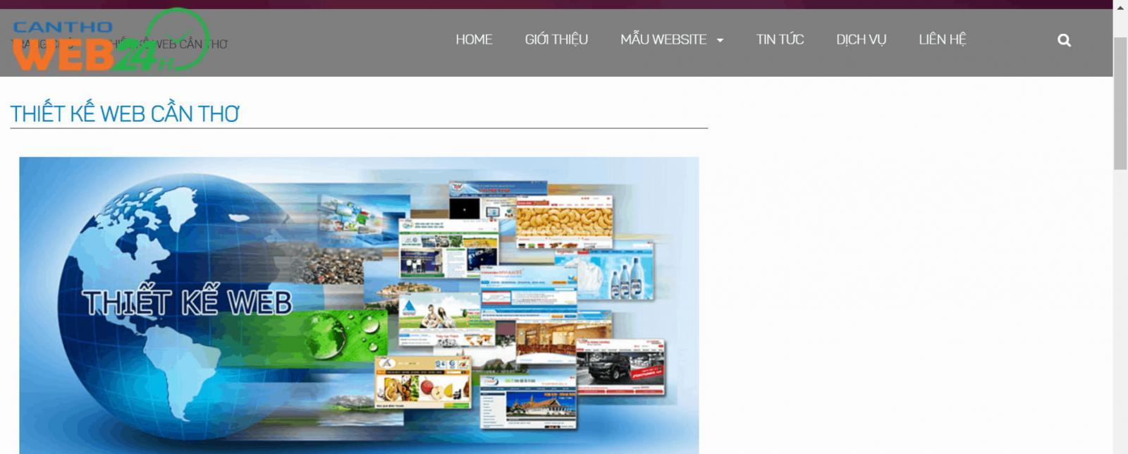 Công ty Thiết kế Web tại Cần Thơ - Cần Thơ 24h