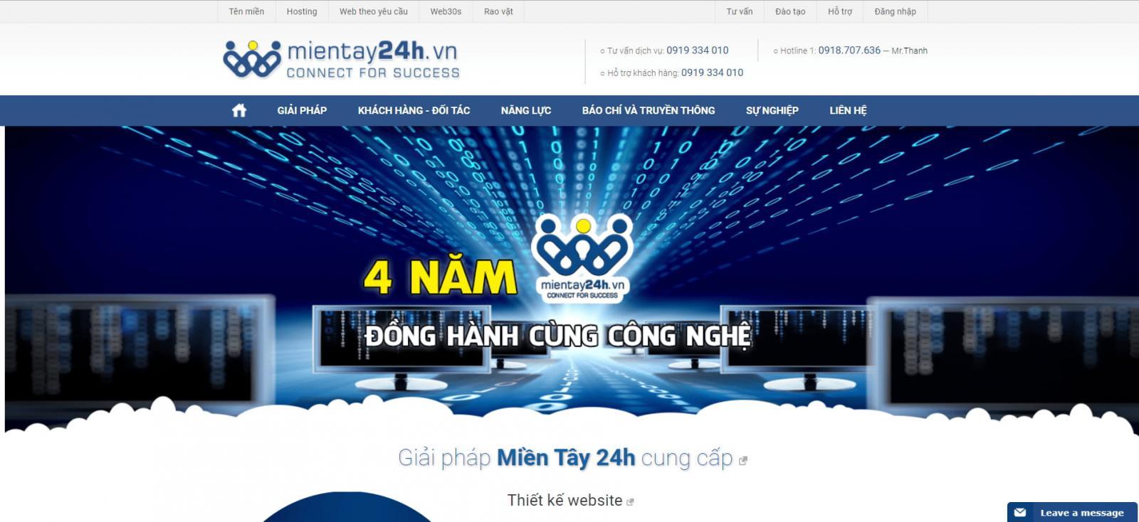 công ty thiết kế Web tại Cần Thơ - Miền Tây 24h